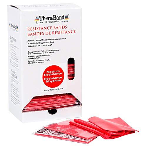 Thera Band Dispenser Box 30 Bändern à 1,5 m rot mittel -