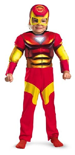 T Kleinkind Muscle Chest Iron Man Kost-m Gr--e Toddler3-4 ()