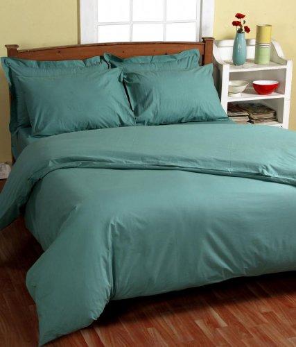 Homescapes – Taie d'oreiller rectangulaire 50 x 75 cm Turquoise - 200 Fils 100 % coton