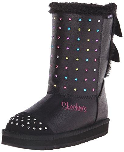 Skechers Keepsakeslimelight Leaps, Bottes et bottines à doublure chaude fille Noir - Noir