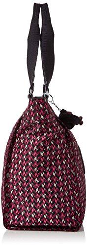 Kipling Damen New Shopper L Tote, 48.5x34x0.1 cm Mehrfarbig (Pink Chevron)