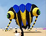SDCVRE Aquilone AquiloniMorbidi monolinea da Spiaggia in TrilobiteChe volano Grandi aquiloni gonfiabili in Nylon Ripstop, 16 Metri Quadrati