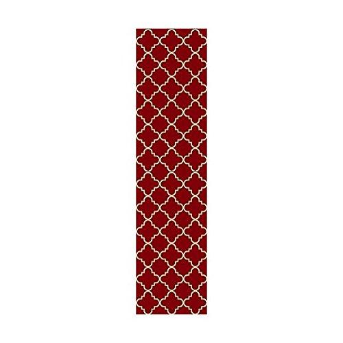 Maxy Home Hamam Collection Gummi Rückseite Spalier Bereich Teppiche, Synthetisch, rot, 20