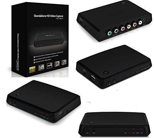 Box Scheda Acquisizione Video Real Time da SCART RCA HDMI VHS DECODER DVD PC CD PVR Mac Apple Game Capture Console Senza Pc