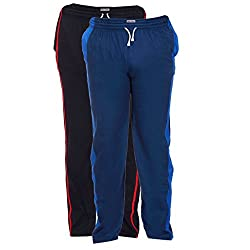 TeesTadka Mens Cotton Track Pants Combo Pack of 2 - Multi Coloured_Size X-Large