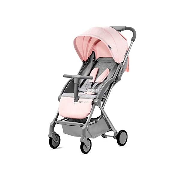Kinderkraft Lightweight Stroller LITE UP, Baby Pushchair, Buggy, Compact Folding, Ajustable Footrest, Lying Position, with Accessories, Rain Cover, Footmuff, from Birth to 3.5 Years, 0-15 kg, Rosa kk KinderKraft Mechanism for easy folding with one hand After folding, the stroller resembles a briefcase You do not have to stop and move around the stroller to make eye contact with the child 2