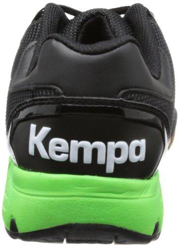 Kempa - Tornado Xl, Scarpe da pallamano Unisex – Adulto Nero (Schwarz (schwarz/fluo grün/silber schwarz/fluo grün/silber))