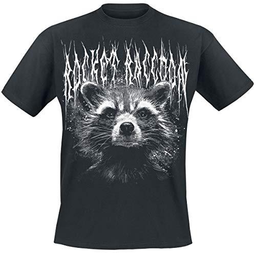Guardians of the Galaxy 2 - Black Metal Rocket T-Shirt schwarz 3XL Schwarz Rocket