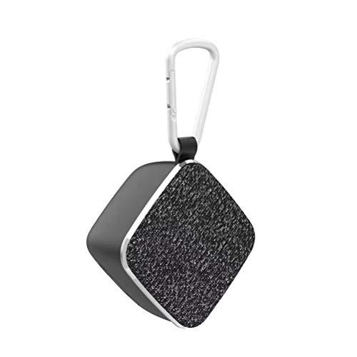 QAR Der Mini-Bluetooth-Lautsprecher kann mit dem TWS Bluetooth 4.2-Chip in Reihe geschaltet Werden Audio (Color : Black)