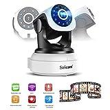 YKS WLAN Kamera IP Camera Überwachungskamera HD Sicherheits mit IR Nachtsicht, schwenkbar Bewegungserkennung, Remote Viewing iOS und Android APP, Weiß