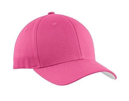 Port Authority® Flexfit® Cotton Twill Cap. C813 Charity Pink S/M (Port Twill Authority Cap)