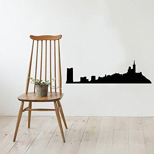 Marseille Schlafzimmer (wandaufkleber 3d schlafzimmer Vinyl Removable Wall Stickers Mural Decal Art Marseille France Skyline Or Car Home Decor)