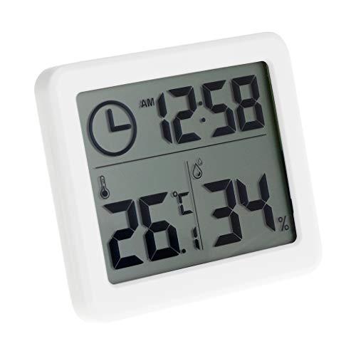 Qiman Multifunktions Thermometer Hygrometer Automatische Elektronische Temperatur Feuchtigkeits Monitor Uhr 3.2inch Großer LCD Bildschirm -