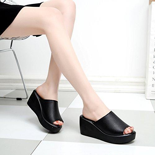 ZPPZZP Ms sandali pantofole estate spessa relaxhigh-tallone trascinare 39EU