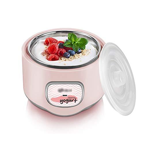 Yogurt machine Joghurtbereiter,Joghurt-Maker,304 Edelstahl Liner (1L), 50 Packungen Bakterienpulver, Gärung Bei Konstanter Temperatur, Natto/Joghurt Zwei Funktionen