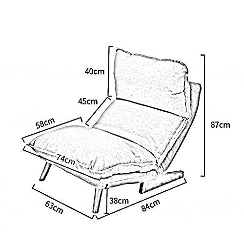 ZY YZ Schlafsaal-Bett-Stuhl, Student-fauler Stuhl, College-Schlafsaal-Artefakt-Liegesofa-einzelnes Schlafzimmer-kleines Sofa-Freizeit-faltendes Sofa-Balkon-Rückenlehne-Ruhesessel-Fußboden-Sofa,4