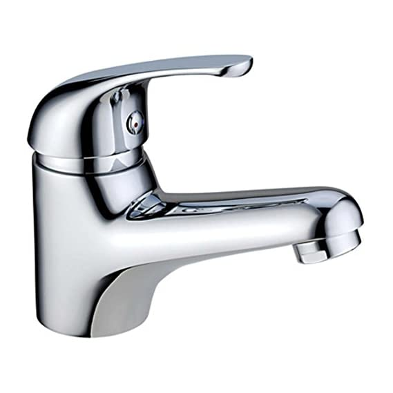 Aquieen Single Lever Basin Mixer with Provision for Hot & Cold Water & 450 mm Connecting Hoses (Stone)