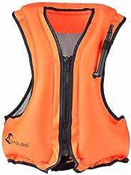 Adult Portable Inflatable Floatage Vest Swim Vest Life Jackets Life Vest Snorkel Vest Snorkeling Fishing Vest