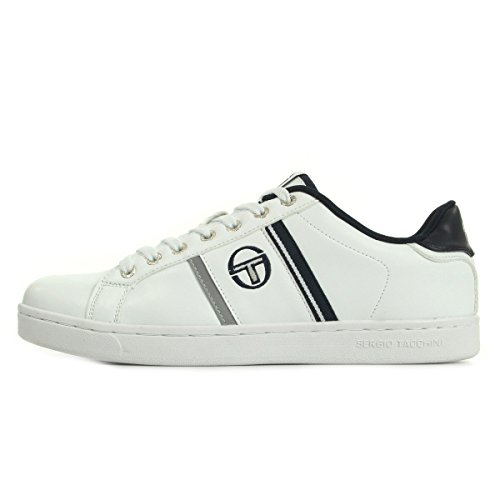 Sergio Tacchini Nizza Flag Leather White Navy ST52412201, Scarpe sportive - 44 EU