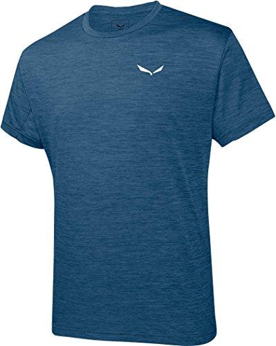 Salewa Herren Puez Melange Dry M S/S Tee T-Shirts, Poseidon melange, 48 (M)