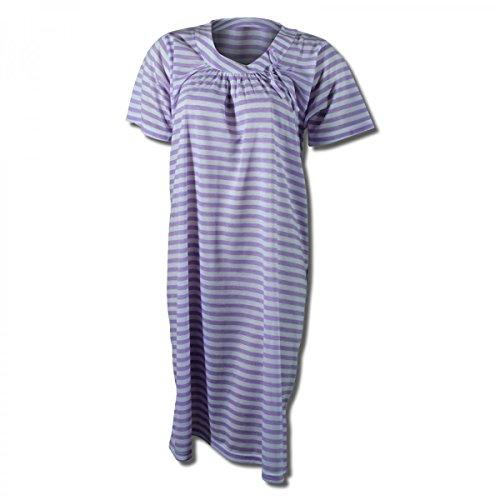 Lavazio -  Camicia da notte  - Donna Weiß/Lila