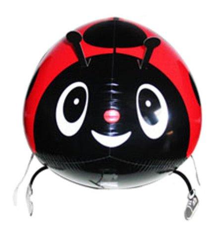 1 Stück AirWalker 'Lady Bug - Marienkäfer - Glückskäfer' - Folienballon, mit LOLLIPOP®-Gasfüllung