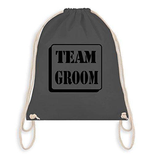 JGA Junggesellenabschied - Team Groom - Turnbeutel I Gym Bag Dunkelgrau