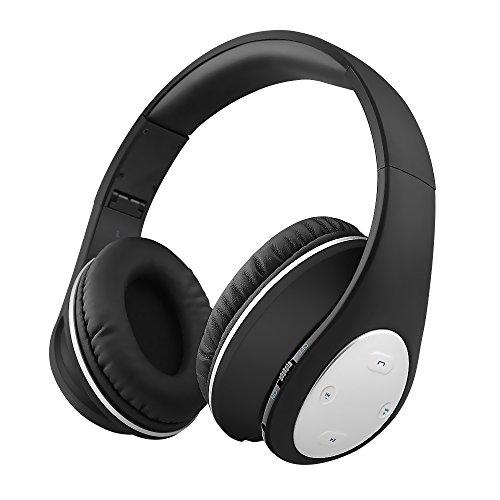 Xunpuls - Auriculares Bluetooth con micrófono para iPhone y teléfono móvil, auriculares inalámbricos estéreo con graves profundos, plegables y ligeros, manos libres