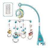 Moonvvin Baby Mobile für Babybetten mit Musik, Crib Mobile mit Nachtlicht und...