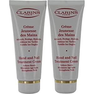 CLARINS HAND & NAIL TREATMENT CREAM - TWIN PACK (2 x 100 ML ) by Clarins