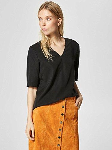 SELECTED FEMME Damen T-Shirt Schwarz (Black)