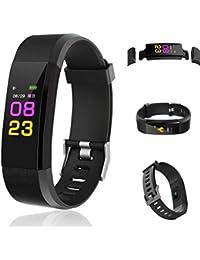 alenku Reloj Pulsera Inteligente Multifuncional Cuenta Pasos Calorías, Smartwatch Fitness Tracker Unisex