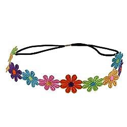 Segolike Boho Daisy Hair Bands Women Wreath Headbands Festival Elastic Flower Garland