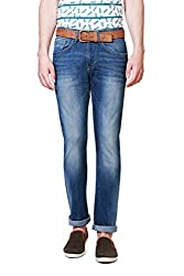 Allen Solly Mens Drop Crotch Jeans (8907467497478_ALDN316J04277_28W x 34L_Dark Blue Solid)