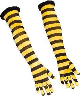 lange Handschuhe Biene zum Kostüm Karneval Fasching
