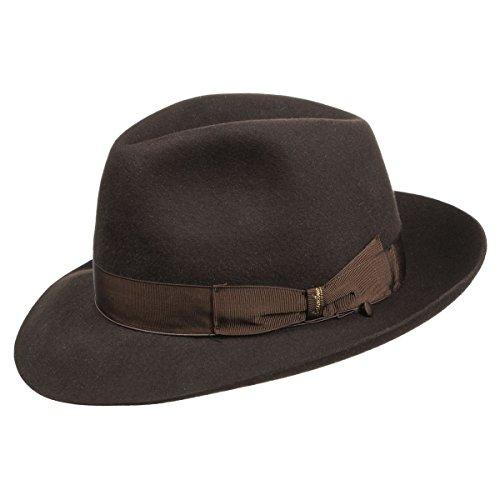 borsalino-marrone-fedora-cappello-in-feltro-di-lapin-61-cm-marrone