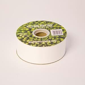 """100 Yards x 2 """"Bianco per fioristi Ribbon. Mazzi di fiori / decorazione / regalo Presentazioni"""