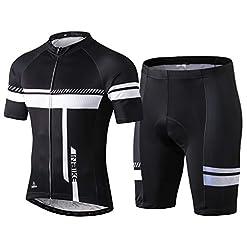 Inbike Completo Maglia Ciclismo Estivo per Uomo alla Moda Maniche Corte + Pantaloncini Corti