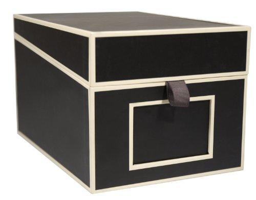 Box für CDs & Fotos Schwarz - Box zum Sammeln und Aufbewahren - Qualität von Semikolon