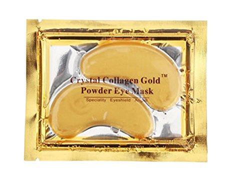 Crystal Collagen Gold Augenmaske, Anti-Falten-Polster mit Lavendelöl, Kollagen und Hyaluronsäure, 5 Kollagen-Masken - Hauttypen Feuchtigkeit Maske