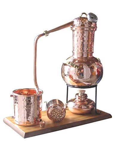 Dr. Richter® Destille 2 Liter Modell Kalif mit Aromakorb, Thermometer und Spiritusbrenner (Aktuelles Modell; Premiumedition II) 2 Liter Modell