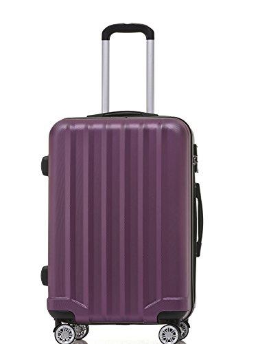 BEIBYE BEIBYE TSA-Schloß 2080 Hangepäck Zwillingsrollen neu Reisekoffer Koffer Trolley Hartschale Set-XL-L-M(Boardcase) (Purple, Set)