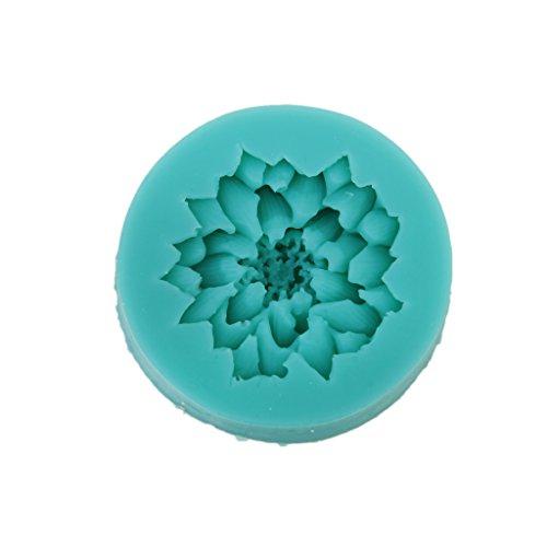 Modelo de Patrón del Flor de Loto para Pasta Fondant Azúcar Molde de La Hornada DIY de Silicona de Color Al Azar