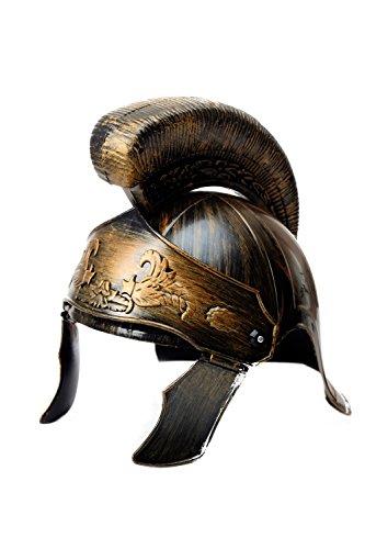 elmbusch und beweglicher seitlicher Gesichtsschutz Rom Antike Centurion Legionär Gladiator Caesar Rüstung Bronzefarben Farbe H82 (Perseus Gladiator Kostüm)