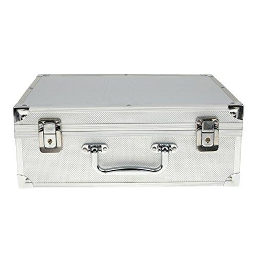 Profi Aluminum-Legierung Koffer für Tattoo Tool Set mit Schloss Silber (Tattoo Aluminium-legierung)