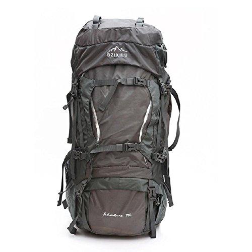 LF&F Backpack Hochwertiges Nylon GroßE KapazitäT 70L Unisex Profi Outdoor Sport Bergsteigen Rucksack Camping Wandertasche Rucksack Klettern GepäCk Tasche D