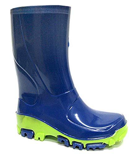 Muflon04 Kids Boys Girls Wellington Boots Rainy Snow Wellies - Silver ions Ag+