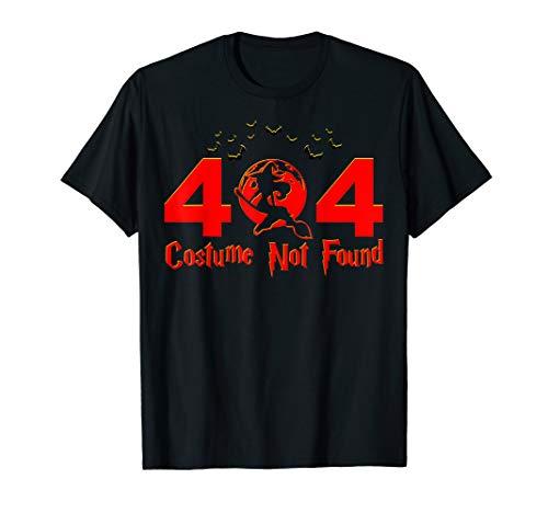 Fehler Kostüm 404 Shirt - Fehler 404 Kostüm nicht gefunden Nerdy Halloween T-Shirt