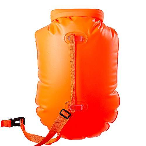 NOBLJX 18L Swim Boje Outdoor Drifting Bag Verstellbarer Hüftgurt Sicherheit Tow Float und Drybag für Open Water Schwimmer und Triathleten Wasserdichtes Rettungspaket
