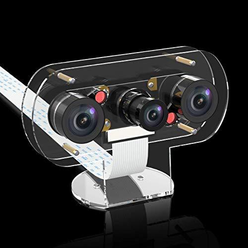 Infrarot Nachtsicht 5M 1080P Kamera Video Webcam mit Acryl Erweiterung Halter Fall, Anzug für Raspberry Pi 3 B + / Pi 3 / Pi Zero, Autoüberwachung, 3D-Drucker (IR Camera) - Reduzierung-anzug